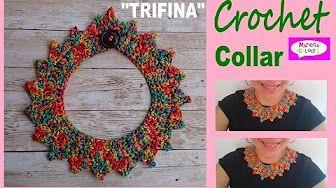 tutorial collares tejidos con crochet - YouTube