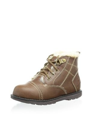 72% OFF Rugged Bear Kid's High-Top Faux Fur-Lined Casual Shoes (Brown)
