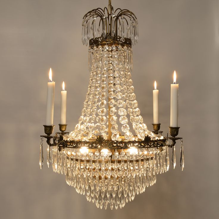 "A brand new chandelier in empire called ""Lilla Karlavagnen"" - swedish for the asterism  Little Dipper"