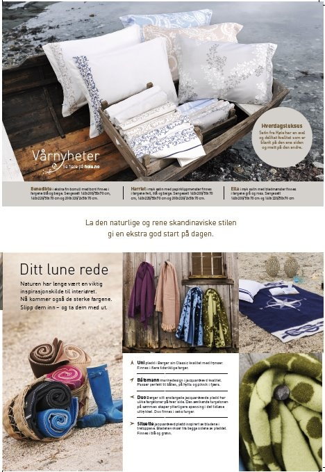 Fra inspirasjonsmagasin utarbeidet for Høie of Scandinavia ifbm vårkampanjen 'Saltblå magi', mars 2012.