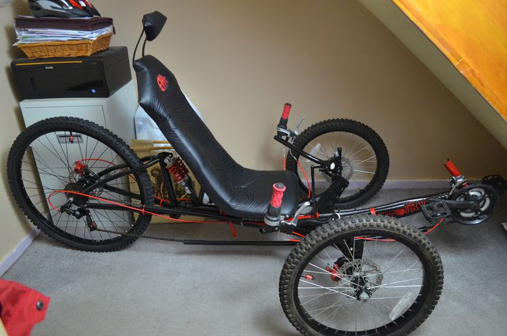 DIY Recumbent Trike made from two other bikes