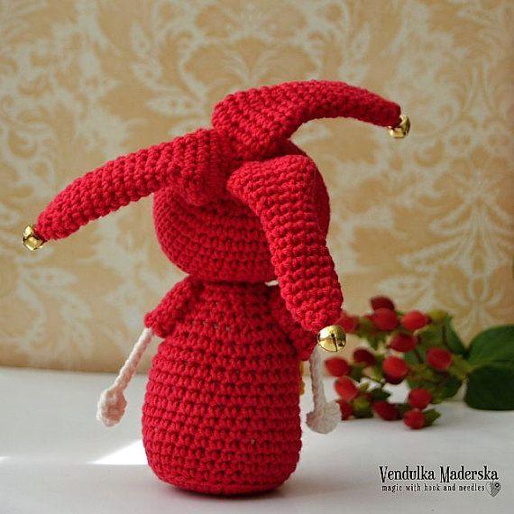 Crochet jester crochet pattern DIY by VendulkaM on Etsy