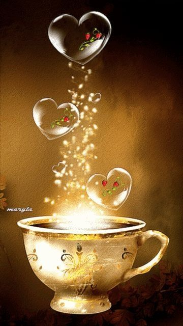 When I am waking with coffee, and find a letter from my Love.  ❥‿↗⁀simply-beautiful-world