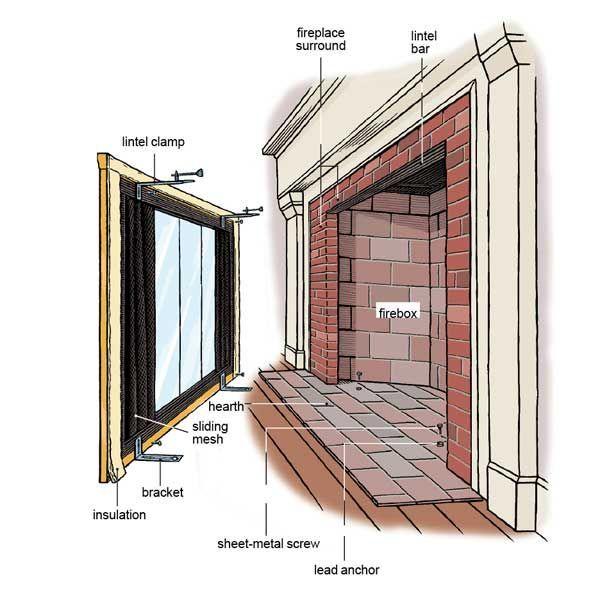 How To Install Glass Fireplace Doors Doors Fireplace Glass Install Dekor