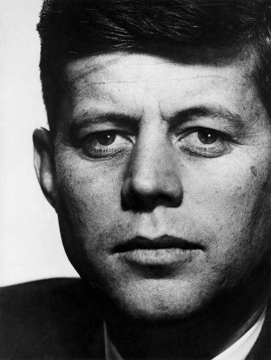 Magnum Photo - John F. Kennedy (JFK) by Philippe Halsman, 1952 Massachusetts. Halsman produced this image of JFK  using strong elements of black and white. This photo was taken years before his presidency, and yet shows a mind of great and powerful success.