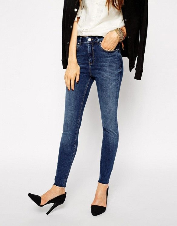 Skinny Jeans have transitioned from of-the-moment to can't-live-without pieces. // Ridley Skinny Ankle Grazer Jeans at ASOS
