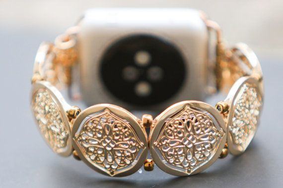Women's Gold Apple Watch Band 42 mm or 38 mm by GirlTechFinds