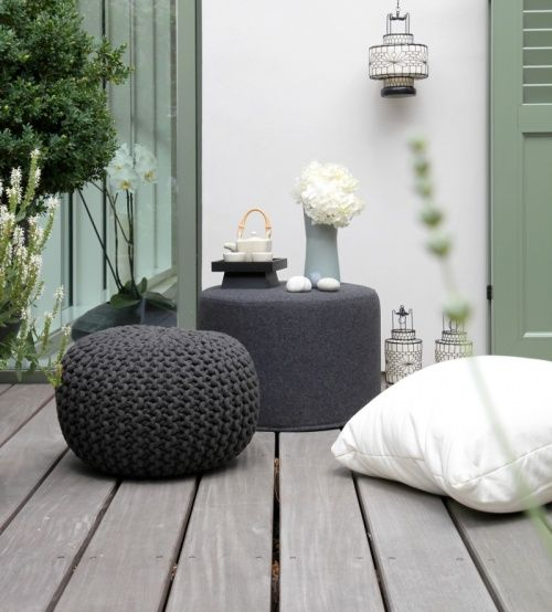 shades of grey white and grey-green for the garden