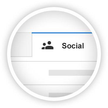 O Gmail está disponível em todos os seus dispositivos Android, iOS e computadores. Organize, colabore ou ligue para um amigo sem sair da sua Caixa de entrada.