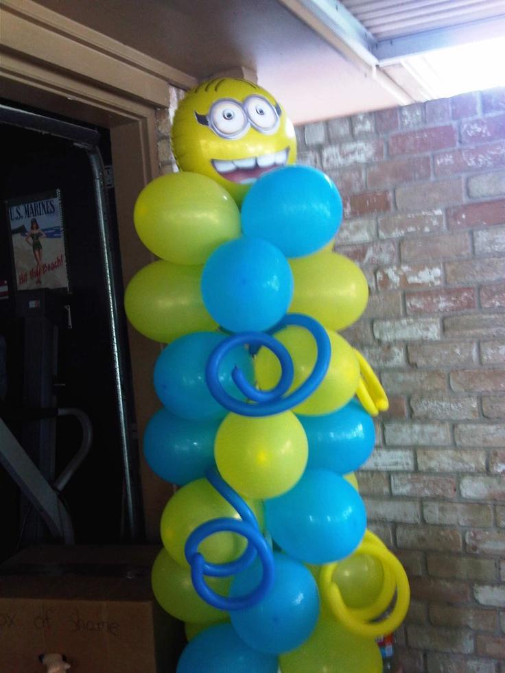 Minion balloon column columns pinterest