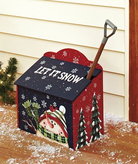 Sidewalk Salt Box With Shovel | The Lakeside Collection..LOVE THIS!