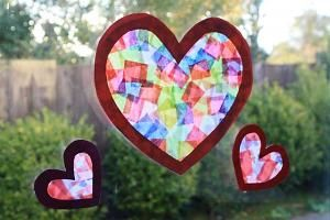 DIY Sun-catchers. Waxed paper, tissue paper, and mod podge! We made these 2 years ago and I still have them hanging in my window!