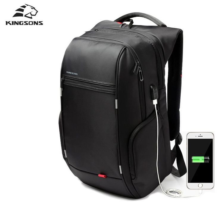 Kingsons Brand 13.3,15.6 17.3 inch Waterproof Anti-theft Notebook Computer Backpack for Men Women External USB Charge Laptop Bag //Price: $43.51//     #shop
