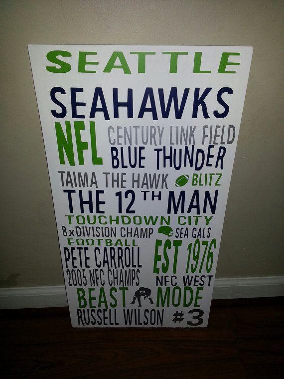 Seattle Seahawks  Subway Art