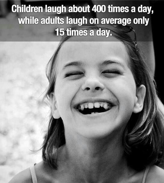 Children laugh about 400 times a day while adults laugh on average only 15 times a day | Anonymous ART of Revolution