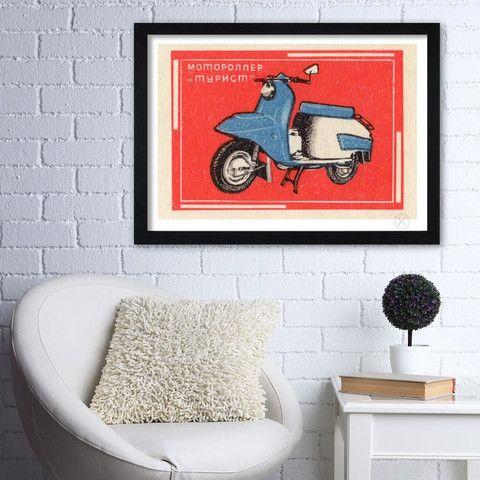A1 scooter print on wall