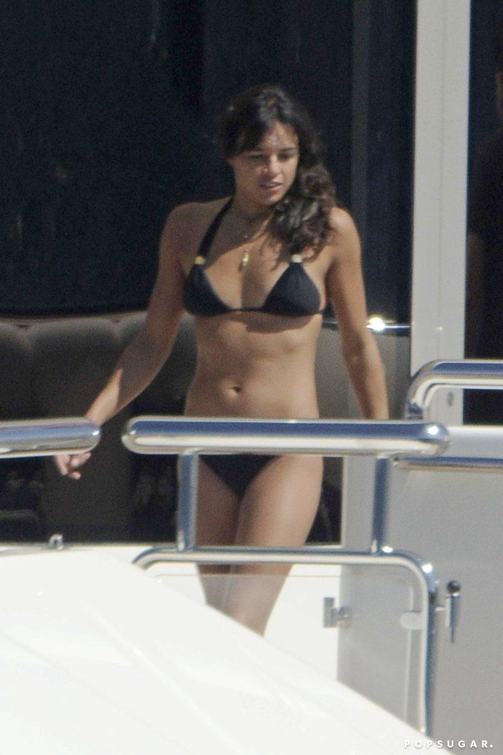 Pin for Later: Fact: Michelle Rodriguez Is Just as Hot Without Zac Efron