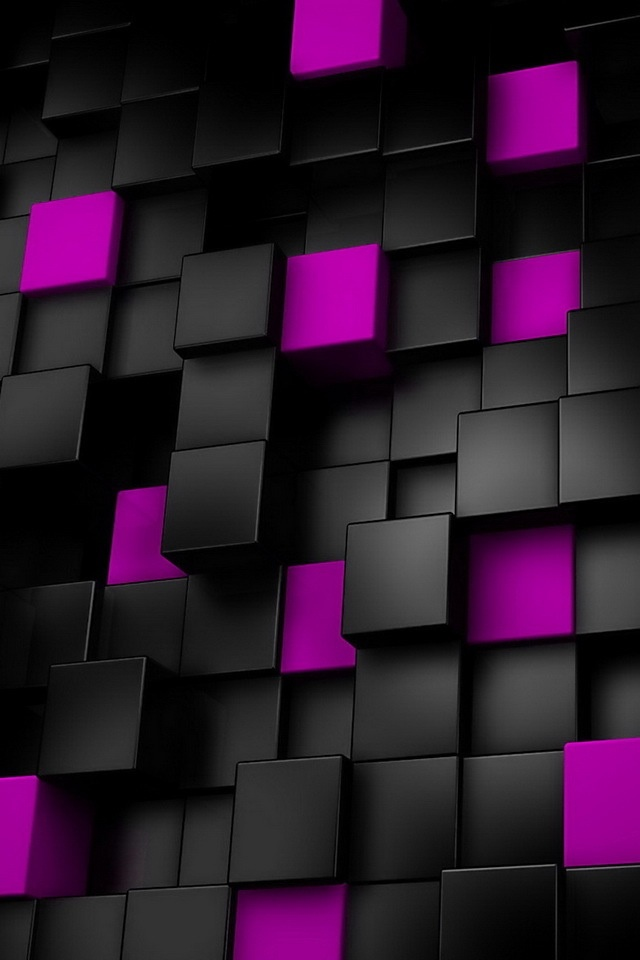The Purple And Black Squares Wallpaper Backgrounds For Smartphones