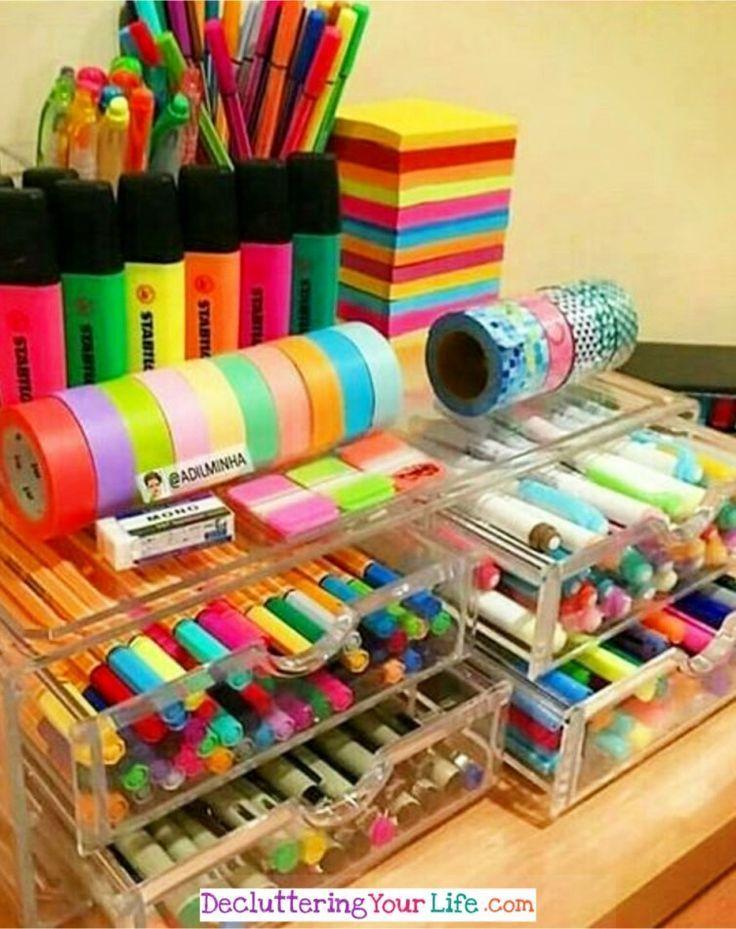 25 + › DIY Craftroom-Organisation – Unerwartete und kreative Wege, um Ihren Craft Room zu organisieren