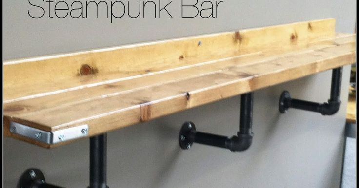 Lipstick and Sawdust: Easy Steampunk Bar Ledge Tutorial
