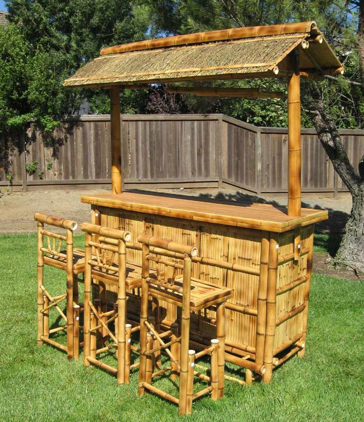 Tiki Bar Stools Set Furniture Garden Design Ideas