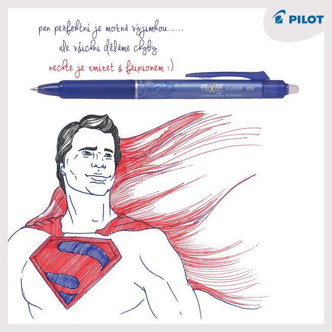 Nikdo z nás není dokonalý ... Na gramatické chyby tu jsou pera #Frixion #Clicker! Napiš - Vymaž - Přepiš :) (y) #happywriting