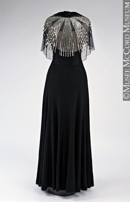 Jeanne Lanvin dress back ca. 1934 via Musee McCord Museum