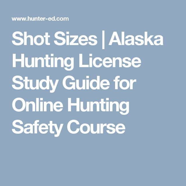 Shot Sizes | Alaska Hunting License Study Guide for Online Hunting Safety Course