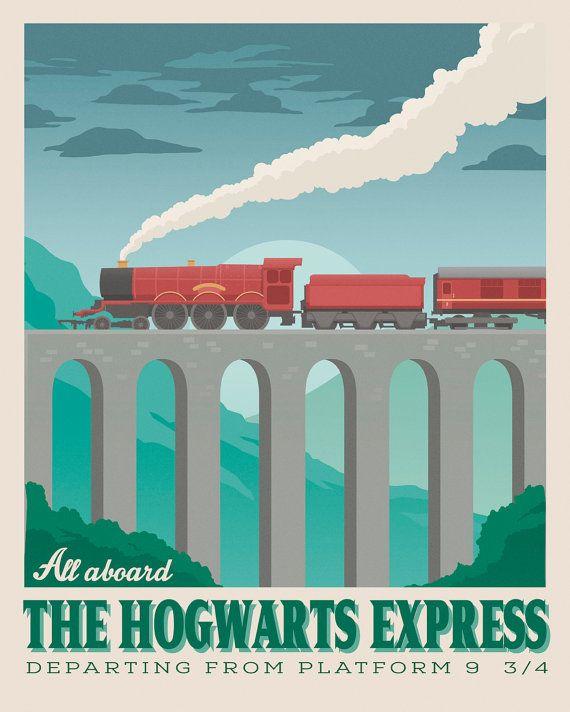Harry Potter set 3 Illustrationen. Vintage von TheSeventhArtShop