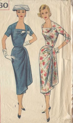 1957 Vintage Sewing Pattern B36 DRESS (R911) | eBay