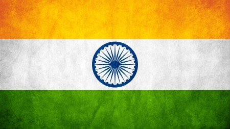 The Indian Tri-Colr Flag with the Ashoka-Chakra in the center