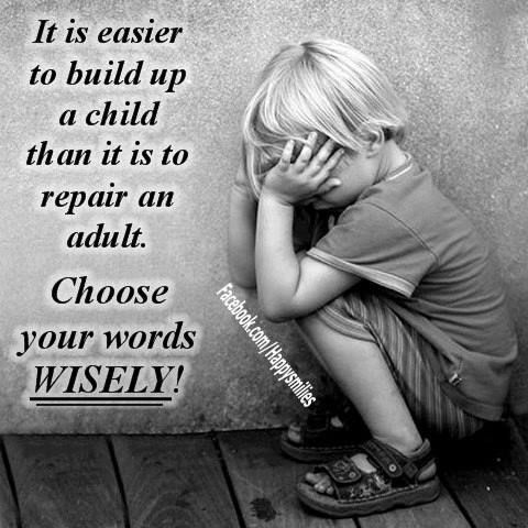 It's sad to think that so many abused children will grow up to either abuse or be abused again.
