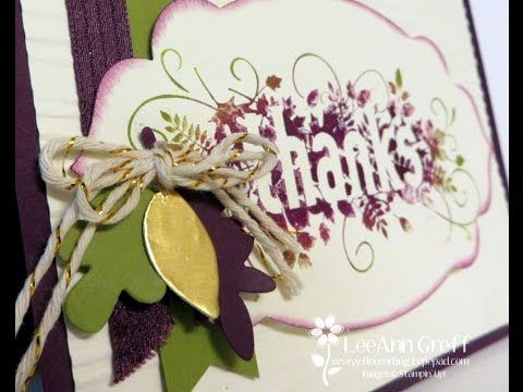 A beautiful Seasonally Scattered card using the baby wipe technique by LeeAnn…