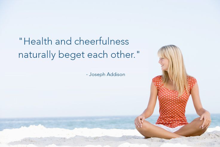 "Beautiful quote: ""Health and cheerfulness…"""