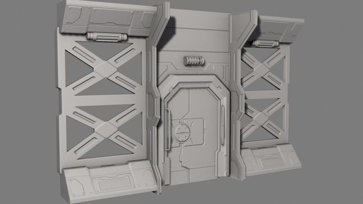 Sci-Fi Wall and Door:
