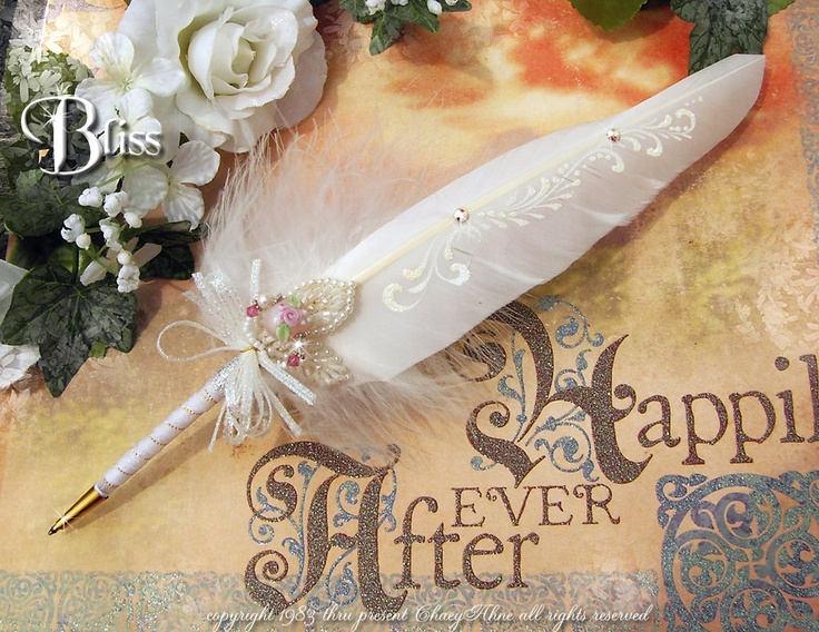 BLISS CSD Couture Faerie Wedding Feather Pen ... Ballpoint / ChaeyAhne, via Etsy.