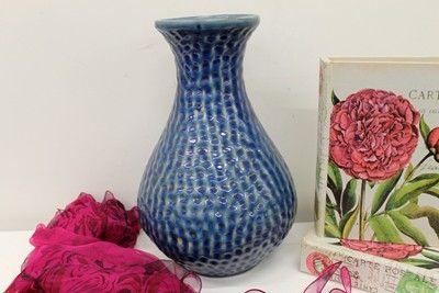 Deep Blue Ceramic Vase - Large