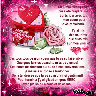 poème de saint valentin | This Blingee was created with Blingee Plus! Upgrade now! Install ...