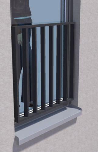 Geländer / fur Innenbereich / Metall / Einfahrts Barren IMB Geländer Vierkantsystem IMB Vertriebs GmbH