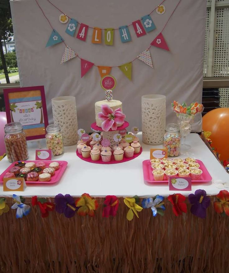 Hawaiian Hula Party Birthday Party Ideas