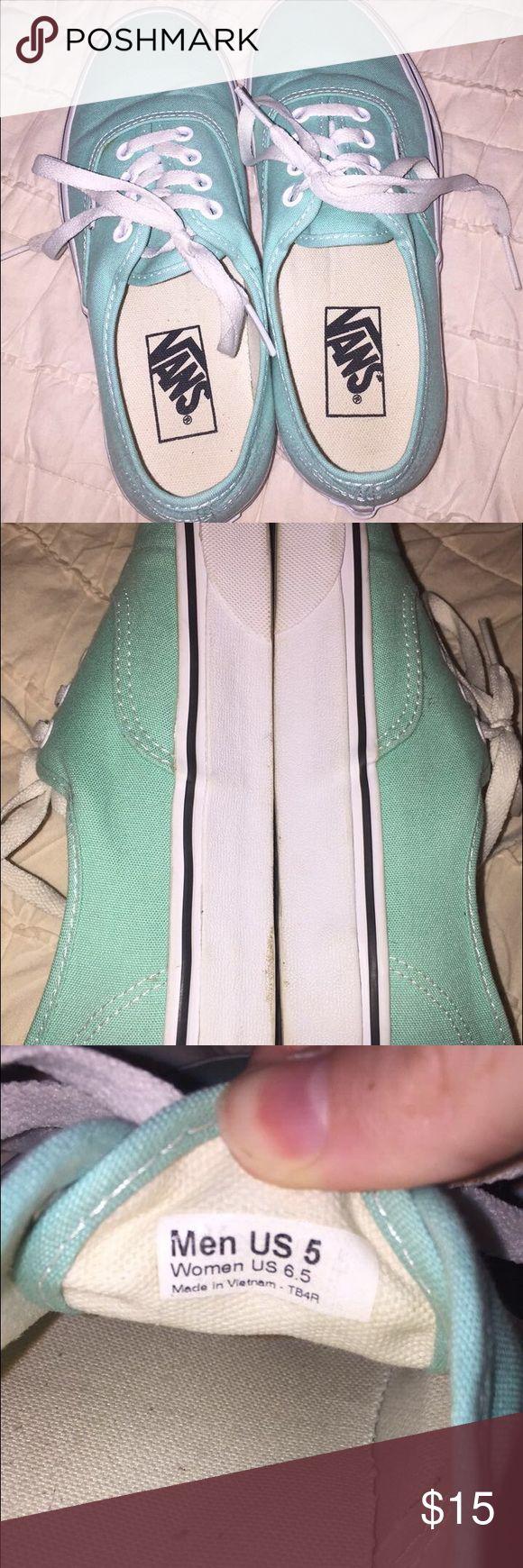 Mint green vans Thick sole, mint green vans Vans Shoes Sneakers