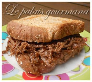 Le palais gourmand: Effiloché de boeuf barbecue