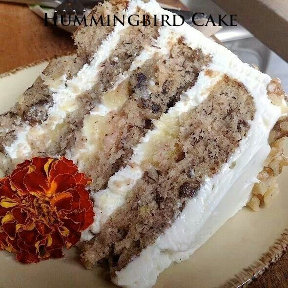 Hummingbird cake. I've got ro make this and see what all the fuss is ...