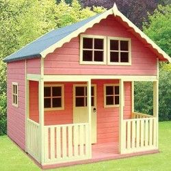 Wooden Playhouse Big Backyard Bayberry Ready to Assemble ...