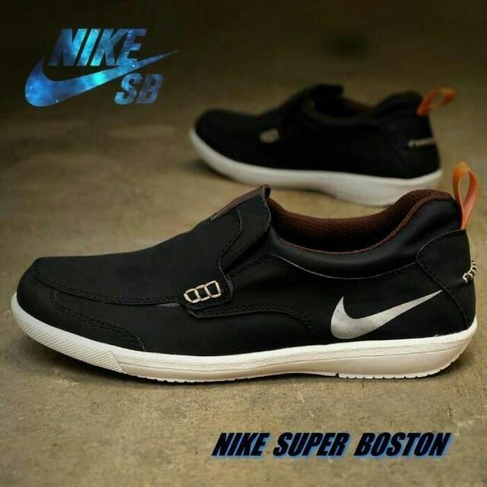 Sepatu Pria Casual Slop Pria Sepatu Nike Boston Original Hand Made