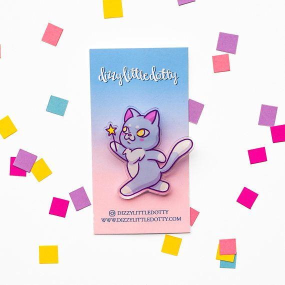 Cat Magic Brooch