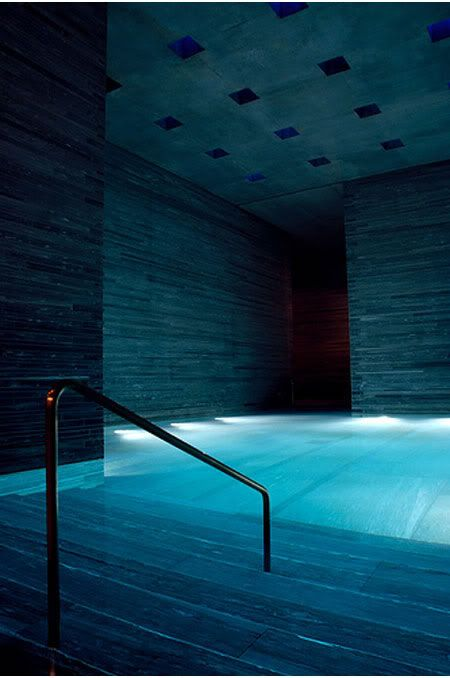 Therme Vals Spa by Peter Zumthor. I feel relaxed just looking at this!