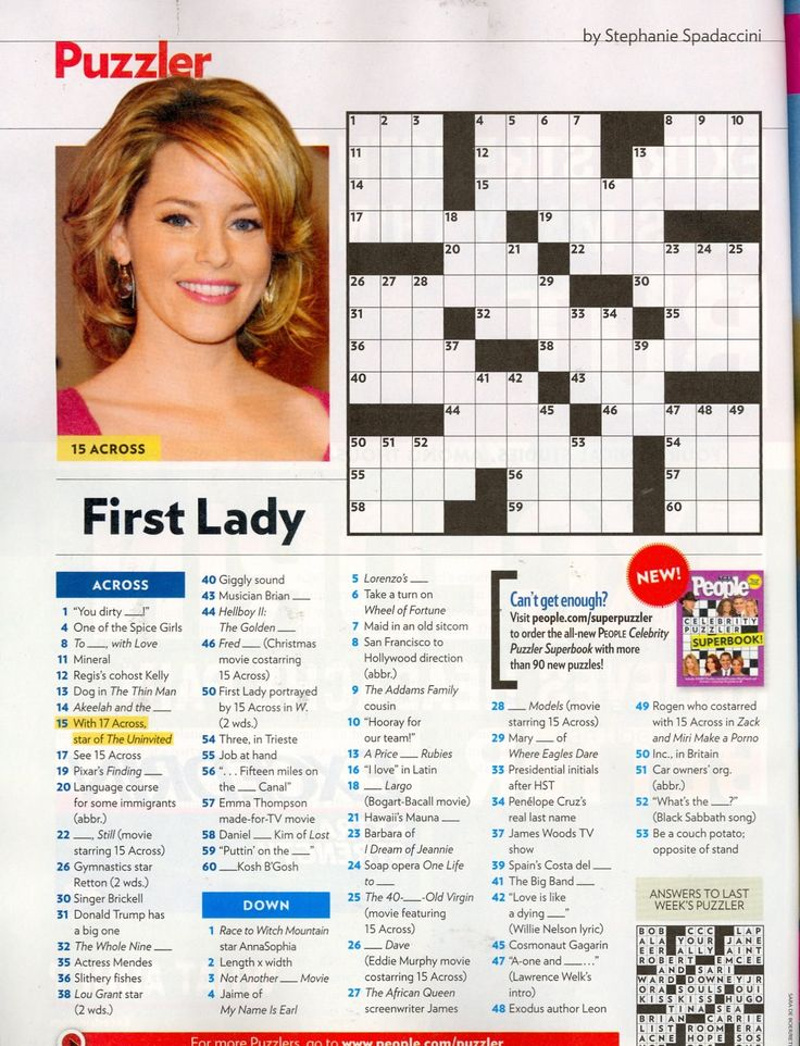 Comprehensive image with regard to star magazine crossword puzzles printable
