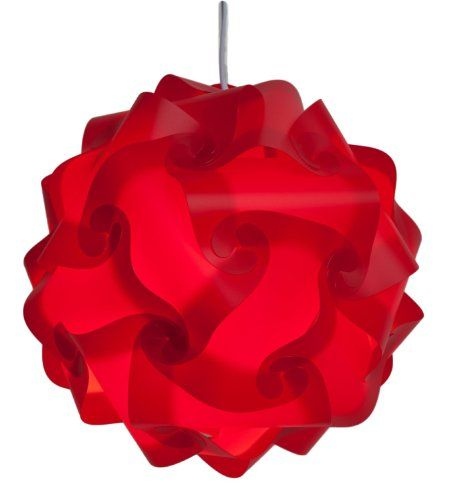 Puzzle Lampshade - Puzzle lightshade - Jigsaw IQ Light shade - Ceiling Lamp Shade - Modern Pendant Lighting - Flatpack Self Assembly. (Large, Red) BANJAMATH http://www.amazon.co.uk/dp/B00KZL5F54/ref=cm_sw_r_pi_dp_-pVOub0EHSRQD