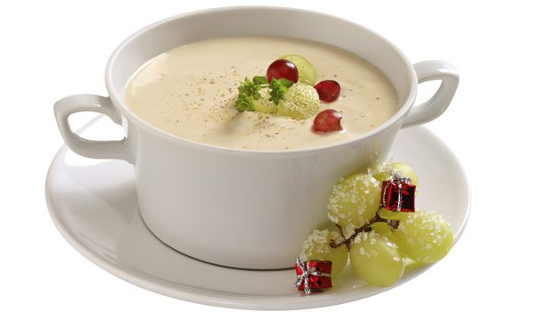 Crema de queso con uvas #CuidarseEsDisfrutar